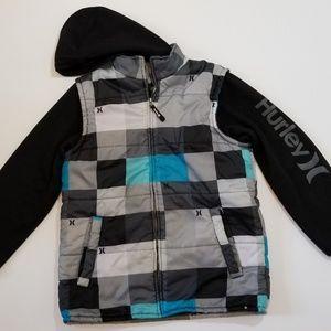 Hurley Puff Vest jacket with Hood | sz L